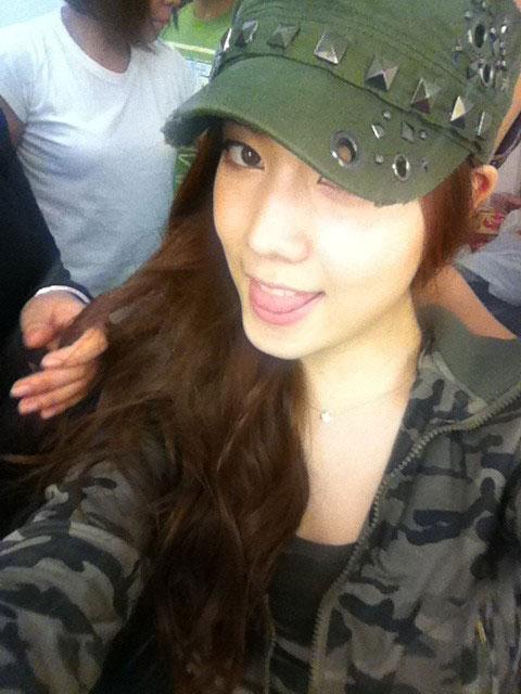 T-ara HwaYoung army uniform