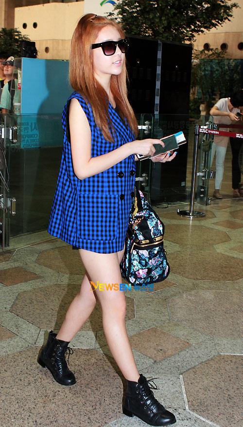 T-ara Qri airport fashion