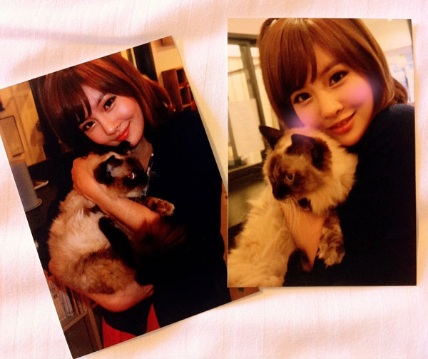 T-ara Boram and cat