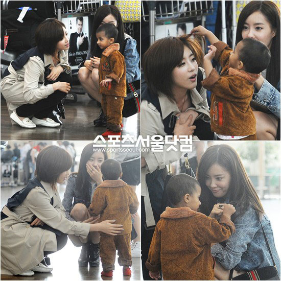 T-ara Eunjung and Hyomin at airport