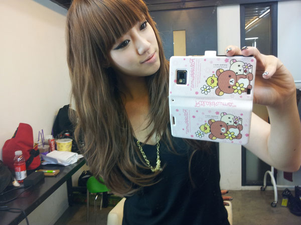 T-ara Eunjung long hair with bangs