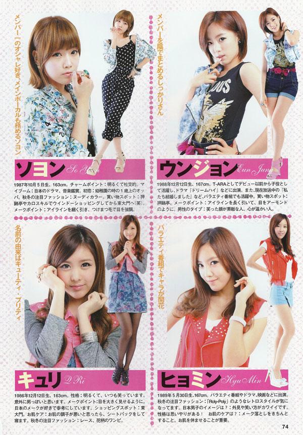 T-ara Japanese Kstar Lover Magazine