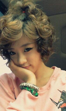 T-ara Eunjung cabbage head selca