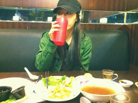T-ara Hwayoung Korean spicy meal
