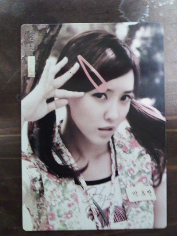 T-ara Hyomin Roly Poly star card