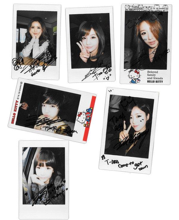 T-ara Hello Kitty polaroid