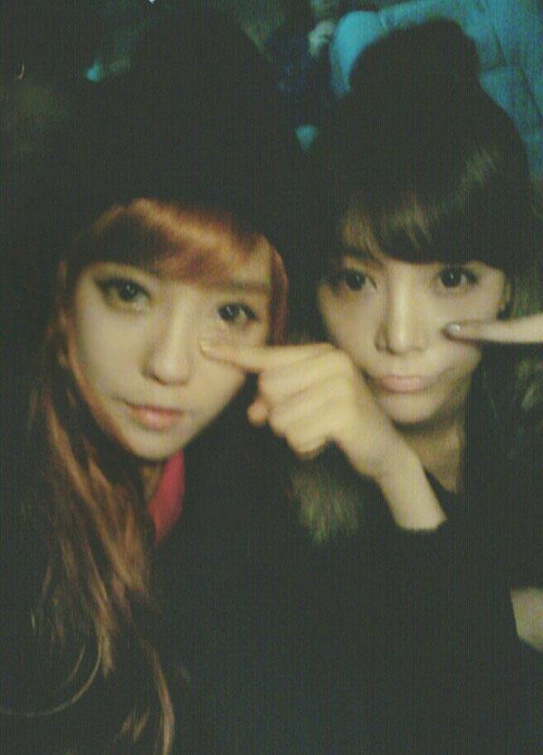 T-ara Hyomin and Soyeon Cry Cry selca