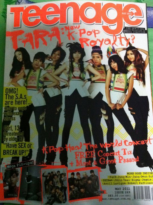 T-ara Singapore Teenage Magazine