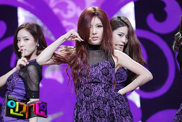 T-ara Qri Cry Cry Inkigayo