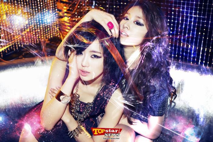 T-ara Eunjung and Jiyeon Lovey Dovey