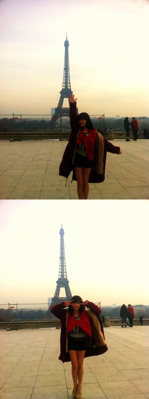 T-ara Boram Paris Eiffel Tower