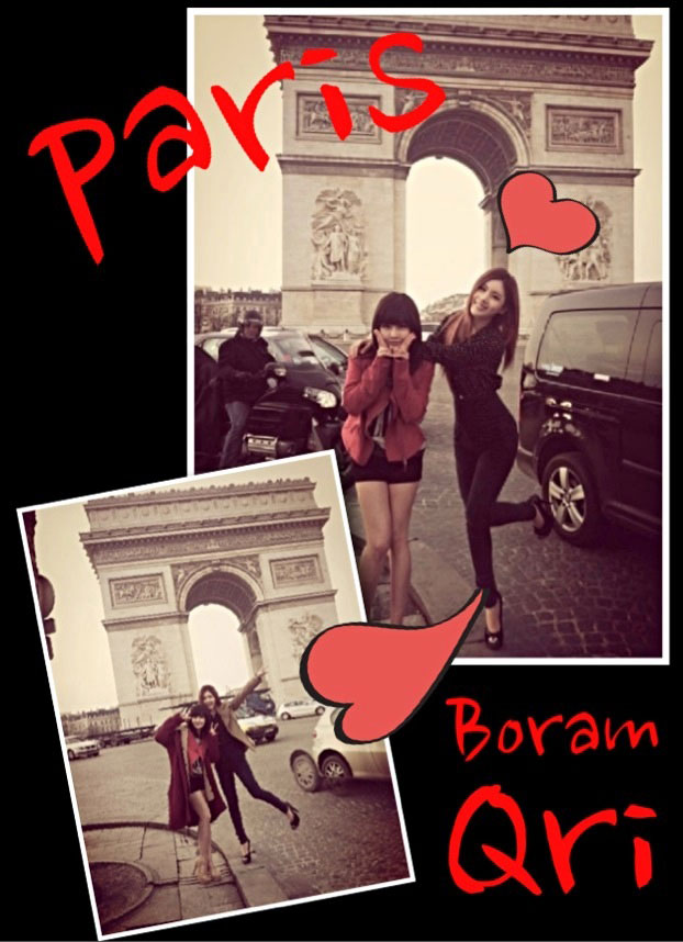 T-ara Boram and Qri Paris Arc de Triomphe