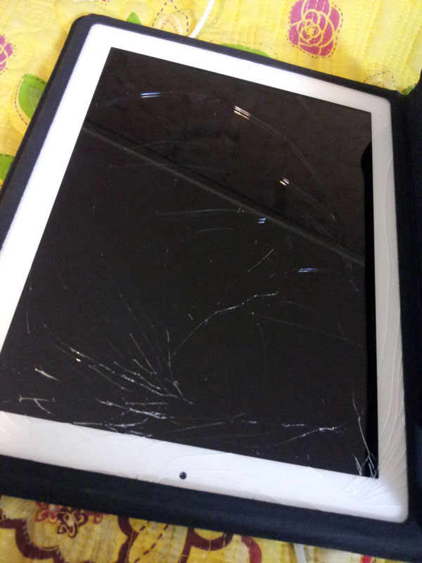 T-ara Jiyeon broken iPad