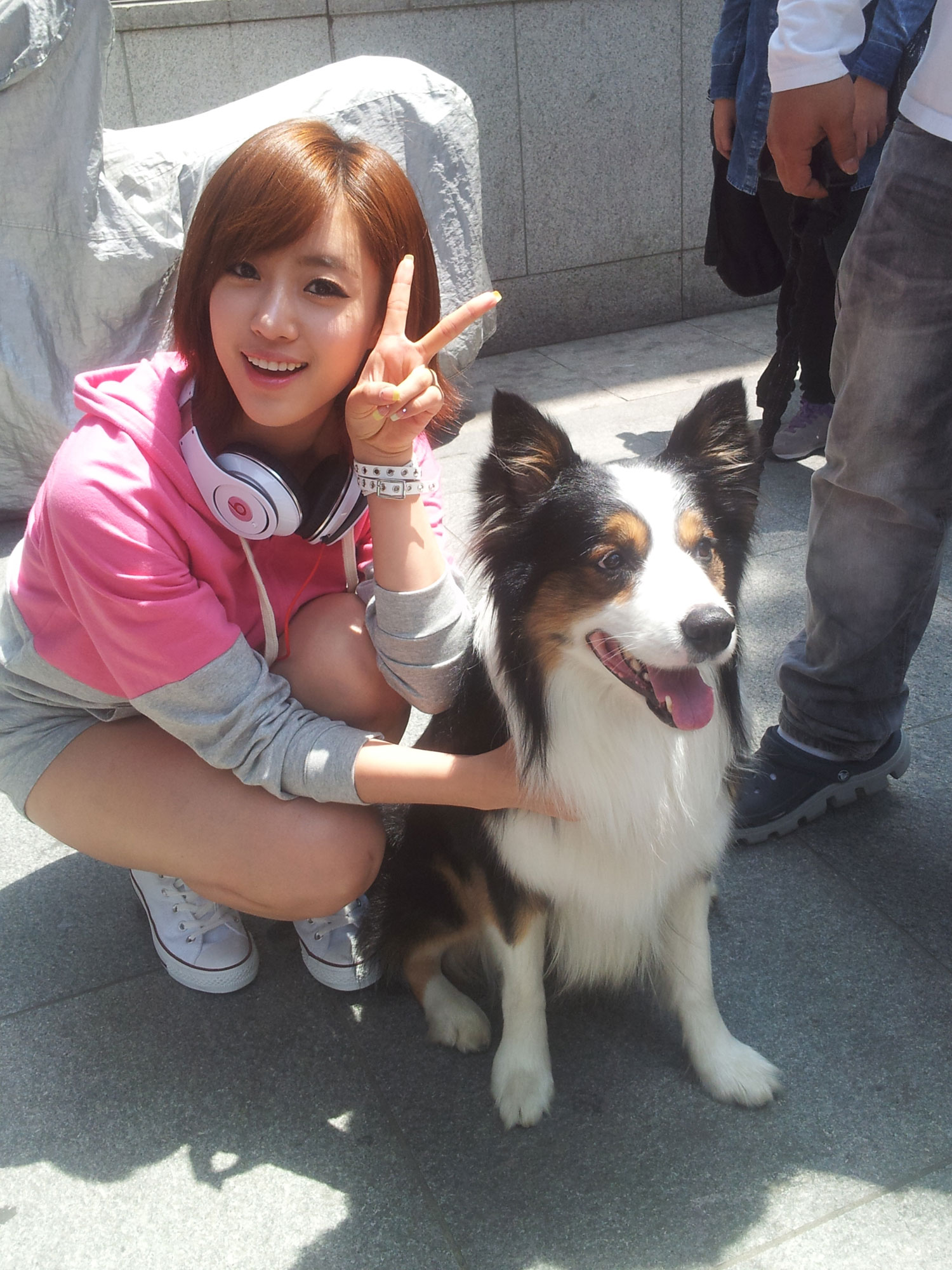 T-ara Eunjung and Garosugil dog