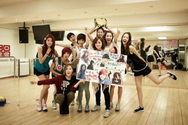 T-ara Eunjung Hyomin and Gangkiz