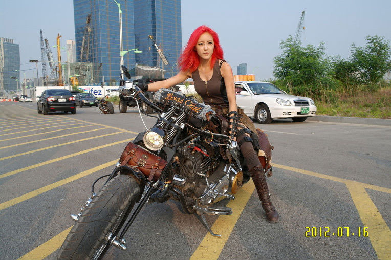 redhead biker hyomin 171 tara korean