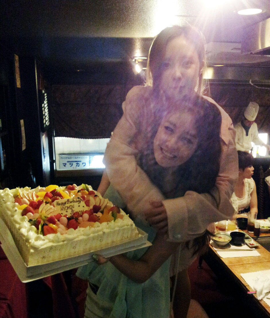 Tara Jiyeon and Hyomin birthday party